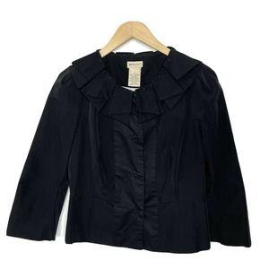 Anthropologie Elevenses Petal Collar Blazer Jacket